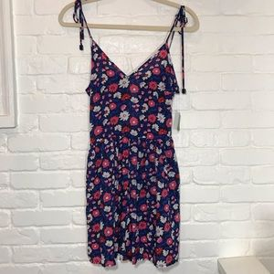 Kate spade summer navy floral romper XS NEW NWT